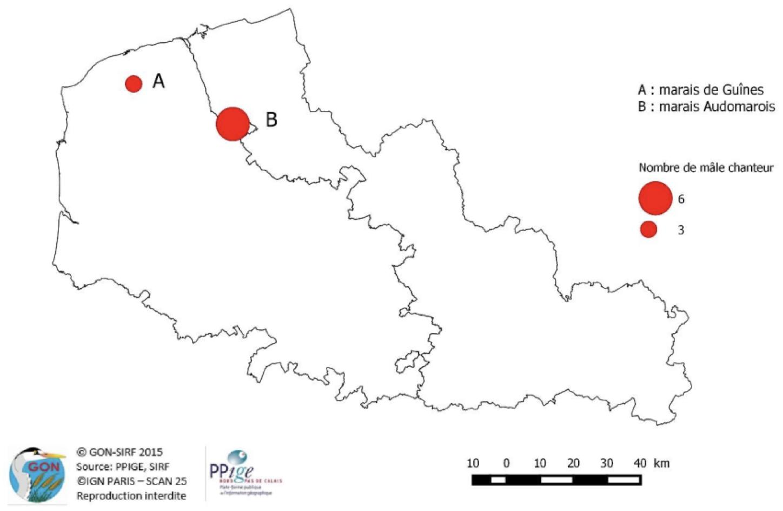 Résultats de l'enquête Marouette ponctuée réalisée en 2015 (Legroux, 2015)